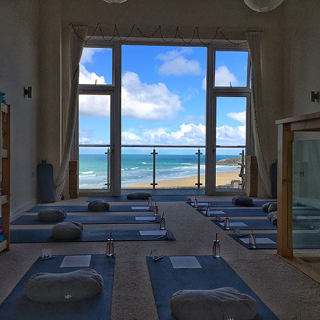Oceanflow Yoga Studio in Newquay Cornwall