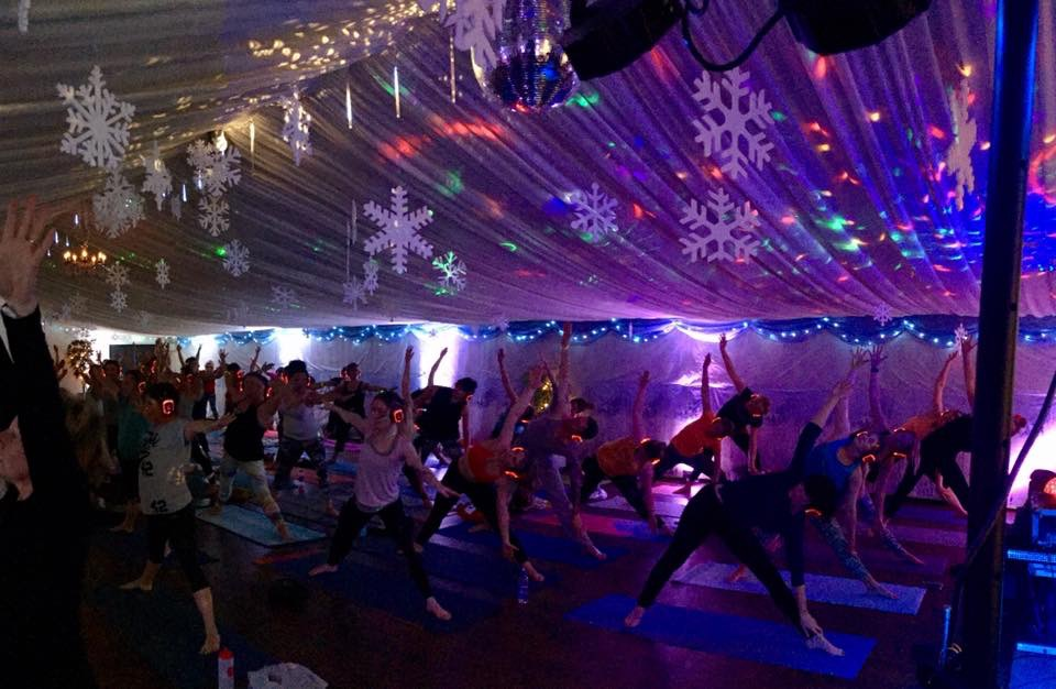 Silent Disco Yoga Christmas 2017