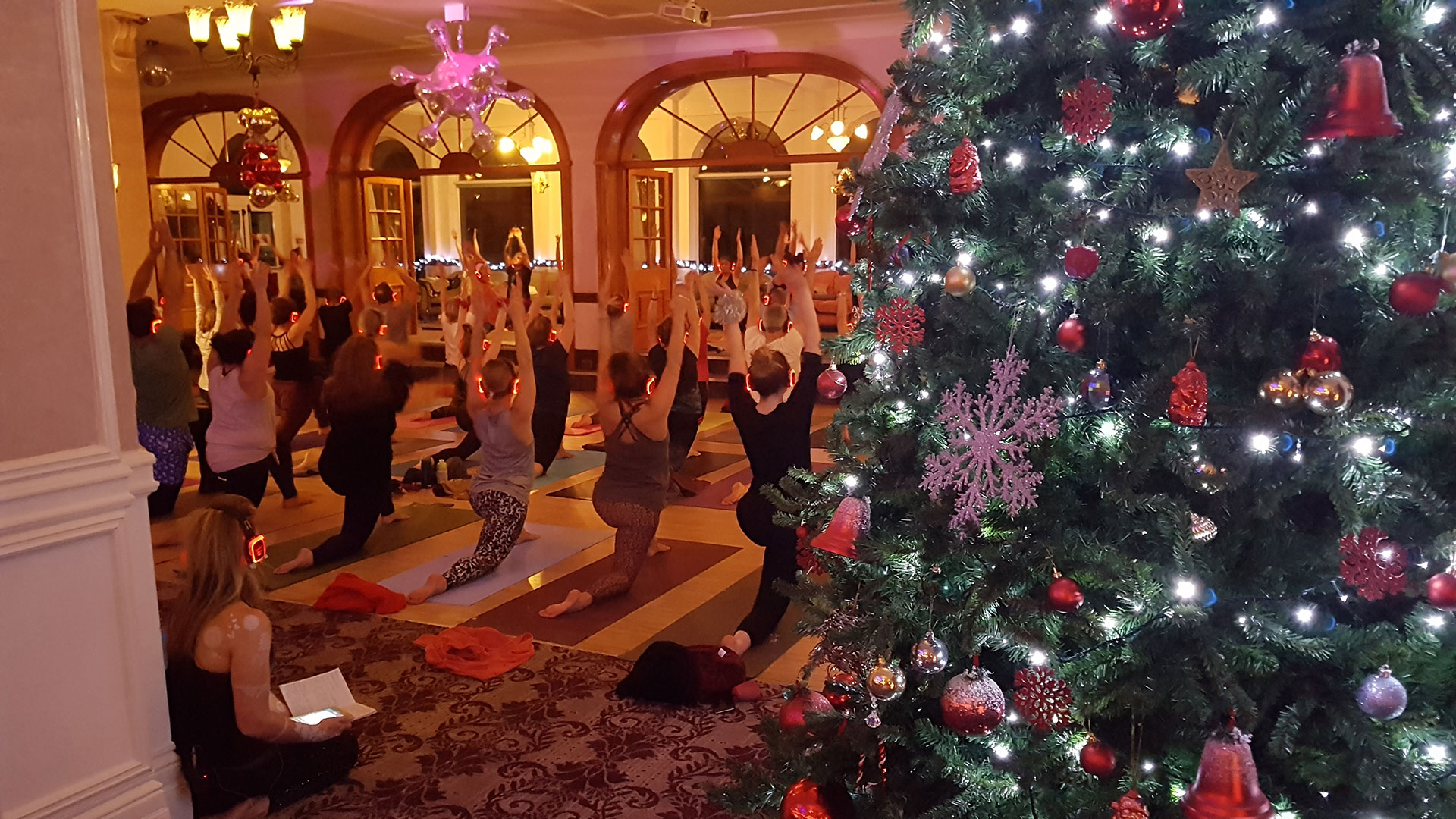 Silent Disco Yoga Christmas Event