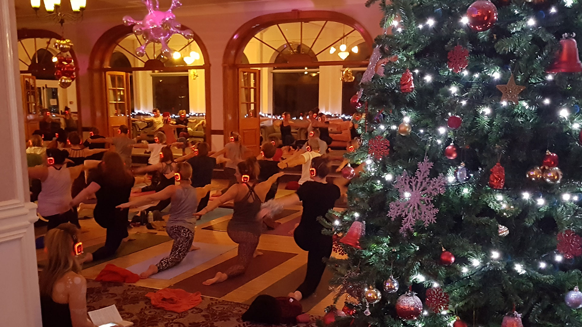 Silent Disco Yoga Newquay Cornwall UK Christmas Special