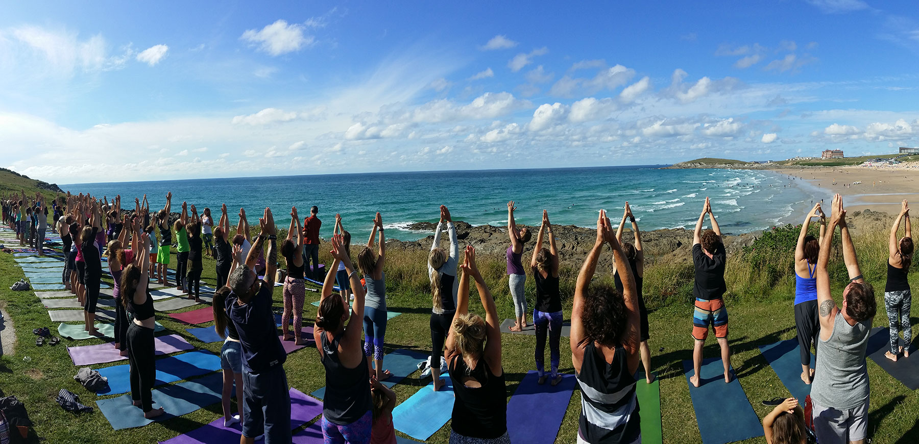 Silent Disco Yoga POP UP event South Fistral Newquay