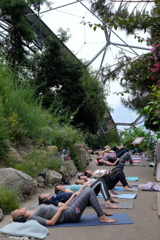Silent Disco Yoga Cornwall Eden Project